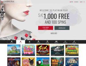 Platinum Play Casino Screenshot #1