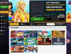 Playamo Casino Screenshot #1