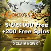 Gonzo's Quest Slots Sidebar Bonus
