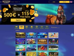 Konung Casino Screenshot #1